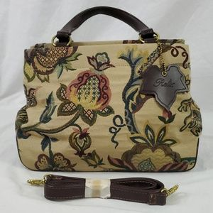 Relic Canvas Tapestry Purse/Brown/Floral (502)